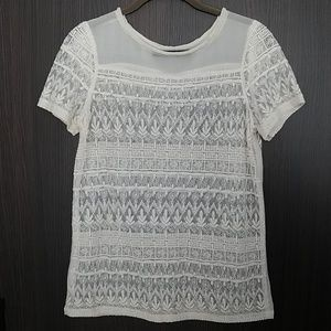 Zara Ivory Lace Top
